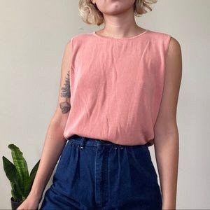 [Vintage] Pink Knit Sleeveless Tank